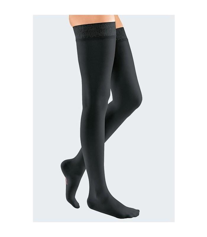 Bas de contention Femme Mediven 20 Elegance avec bande picots par Medi - Coloris Noir