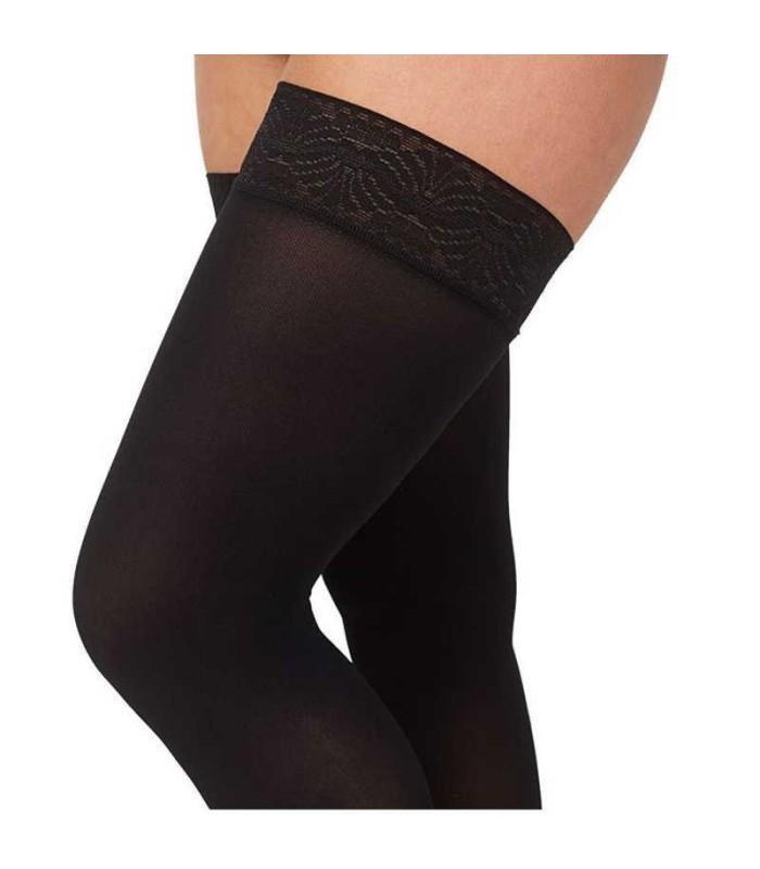 Bas de contention Femme Mediven 30 Elegance par Medi - Zoom Jambe - Coloris Noir