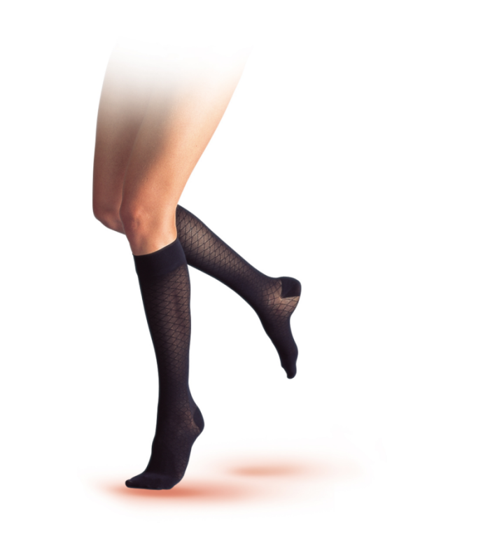 Chaussettes de contention de la gamme Audace de Sigvaris. Coloris Noir