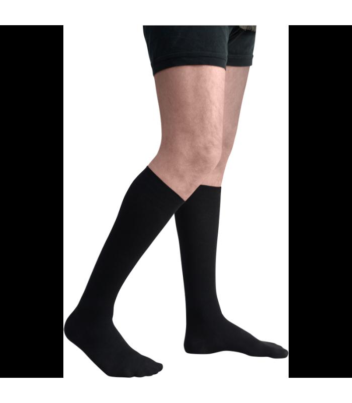 Chaussettes de contention de la gamme Origin Lin pour hommes. Coloris Noir