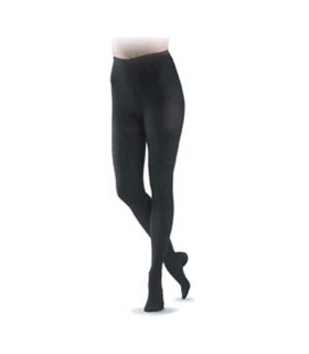 Collant de contention de la gamme Coton pour femmes de Sigvaris. Coloris Noir.