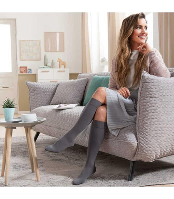 Chaussettes de contention Femme Soft classe 3 par Juzo - Coloris Graphite
