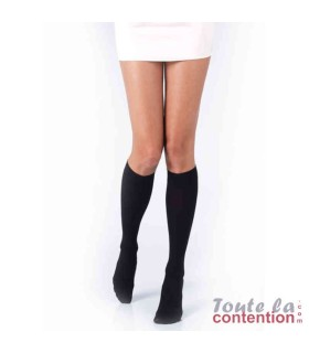 Chaussettes de contention Femme Varisma Comfort Coton Classe 2 par Innothera - Coloris Noir