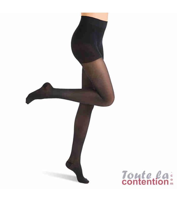 Collant de contention Femme Microvoile Classe 1 par Radiante - Coloris Noir