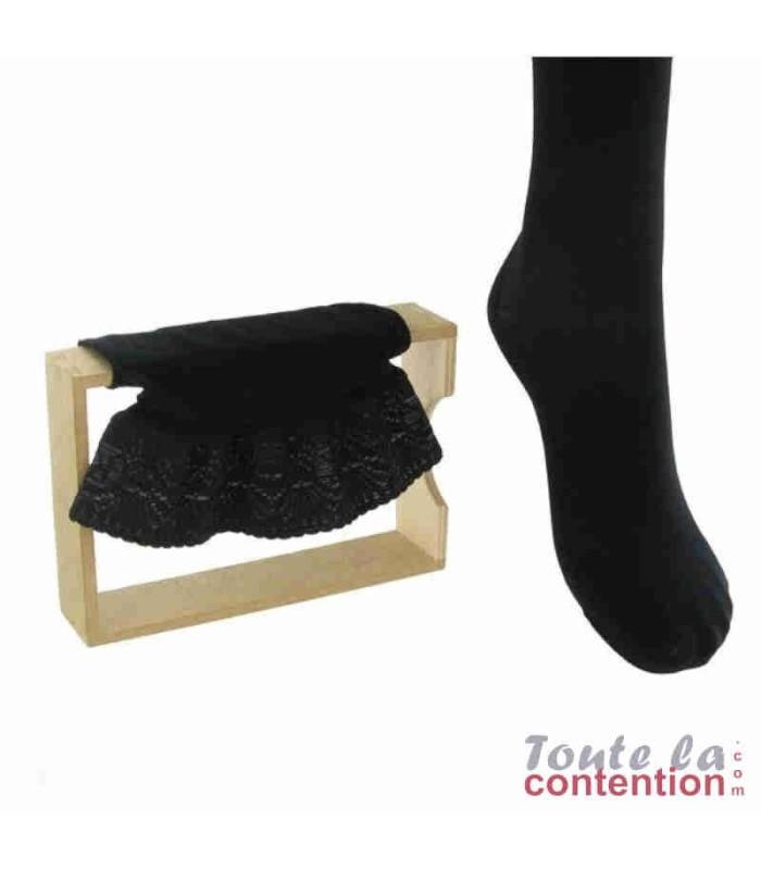 Bas de contention Femme Microvoile Basfix Classe 2 par Radiante - Coloris Noir