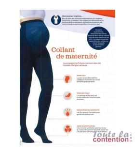 Collant maternité Femme Classe 2 par Radiante - Coloris Marine - Explicatif