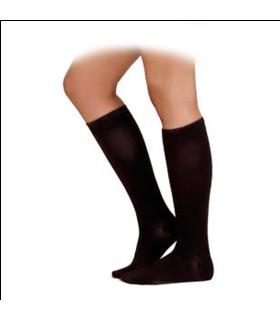 Chaussettes de contention de la gamme Expert Femme de Sigvaris. Coloris Noir.