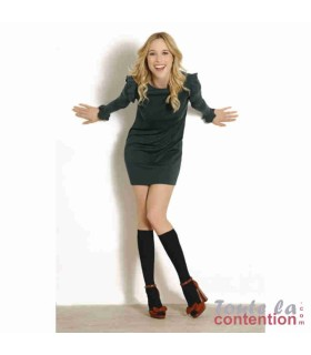 Chaussettes de contention Femme Qoton Jarfix Classe 2 par Radiante - Coloris Noir