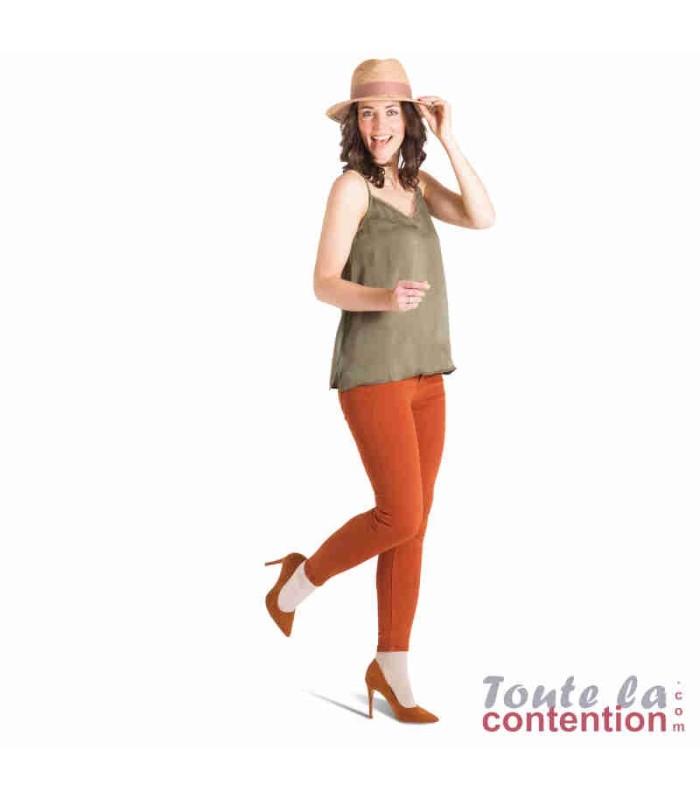 Chaussettes de contention Femme Détente Jarfix Classe 2 par Radiante - Coloris Beige