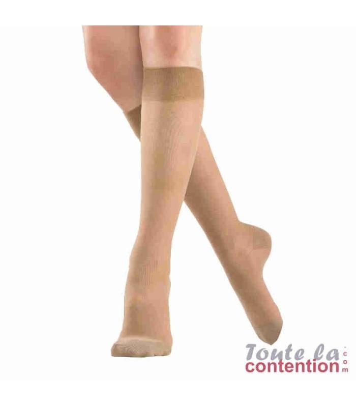 Chaussettes de contention Femme Microvoile Jarfix Classe 2 par Radiante - Coloris Naturel
