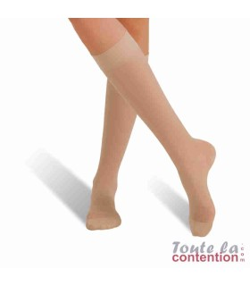 Chaussettes de contention Femme Voilisim Jarfix Classe 2 par Radiante - Coloris Nude
