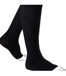 Chaussettes de contention Homme City Confort Coton Classe 3 par Thuasne - Coloris Noir - Pieds Ouverts