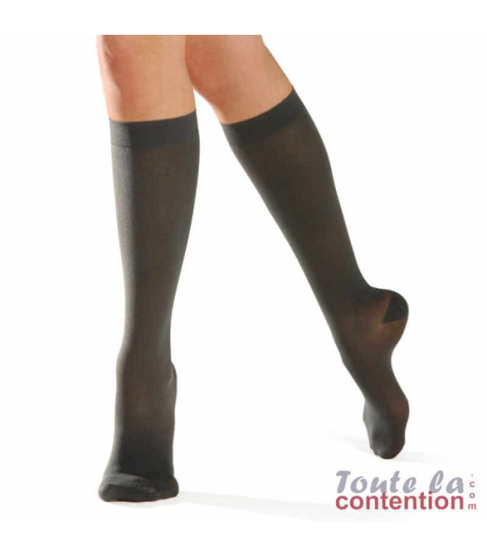 Chaussettes de contention Femme Dynaven Pure semi-opaque Classe 2 par Sigvaris - Coloris Gris