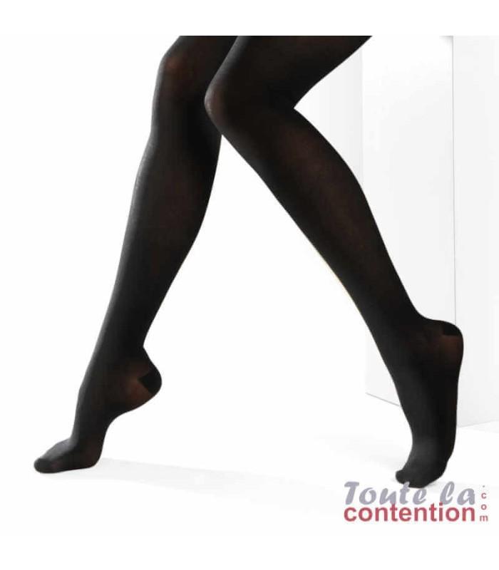 Collant de contention Femme Dynaven Pure semi-opaque Classe 2 par Sigvaris - Coloris Noir