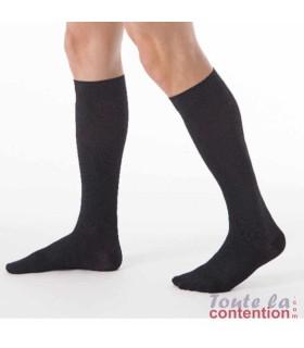 Chaussettes de contention Homme Dynaven Reflex Fin Classe 3 par Sigvaris - Coloris Noir