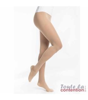 Collant confort culotte élargie Femme Essentiel Semi-Transparent classe 2 par Sigvaris - Coloris Naturel
