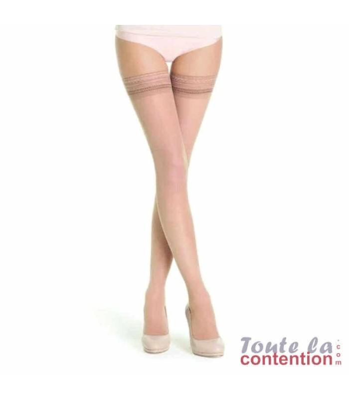 Bas de contention Femme Styles Transparent classe 2 par Sigvaris - Coloris Beige 120