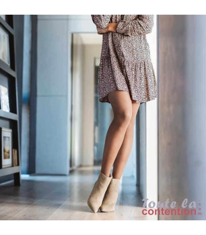 Collant de contention Femme Styles Transparent classe 2 par Sigvaris - Coloris Beige