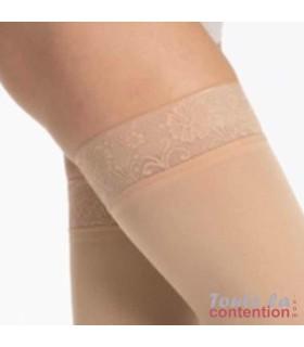 Bas de contention Femme Styles Opaque classe 2 par Sigvaris - Coloris Beige - Zoom bande Sensinnov