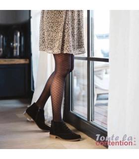 Collant de contention Femme Styles Motifs Résilles Classe 2 par Sigvaris - Coloris Noir - Photo
