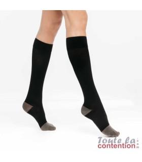 Chaussettes de contention Femme diabétique Diabtx3 Classe 3 par Sigvaris - Coloris Noir
