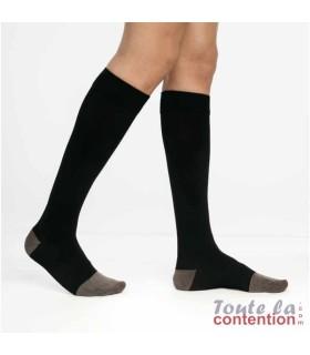 Chaussettes de contention Homme diabétique Diabtx3 Classe 3 par Sigvaris - Coloris Noir