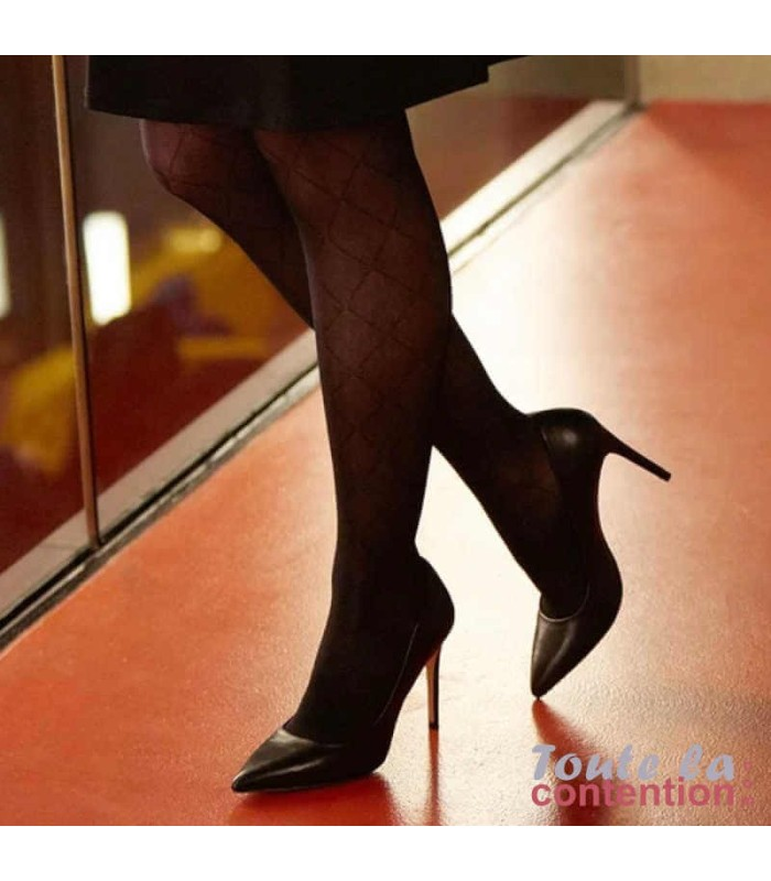 Bas de contention Femme Styles Motifs Losanges Classe 2 par Sigvaris - Photo intérieure