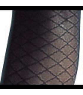 Détail du motif de la gamme Audace de Sigvaris. Coloris Noir.