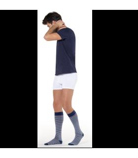 Chaussettes de contention Marinière pour homme de Sigvaris