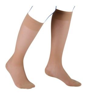 Chaussettes de contention Femme Venoflex Incognito Absolu de Thuasne. Coloris Beige doré