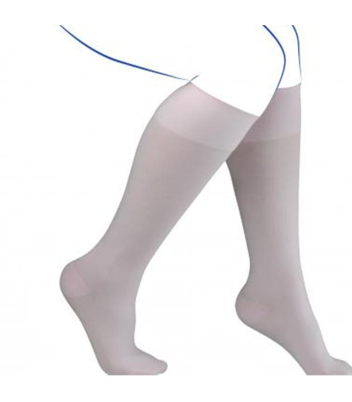 Chaussettes de contention Femme Simply Coton Fin de Thuasne. Coloris Creme