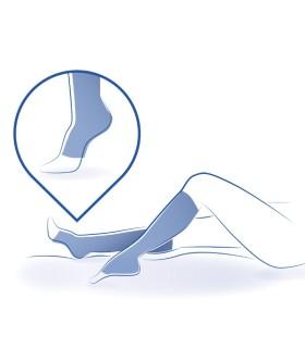 Chaussettes anti stase Venoflex Clinic 2 par Thuasne. En position horizontale