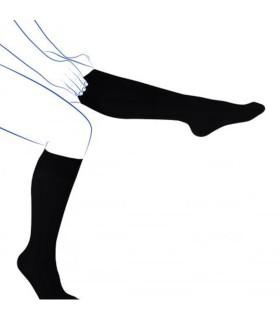 Chaussettes de contention Femme Fast Coton Classe 2 de Thuasne. Coloris Irlandais Noir