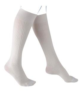 Chaussettes de contention Femme Fast Laine Classe 3 de Thuasne. Coloris Torsades Ecru