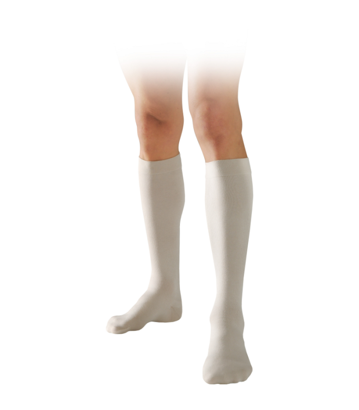 Chaussettes de contention de la gamme Instinct Coton de Sigvaris. Coloris Sable