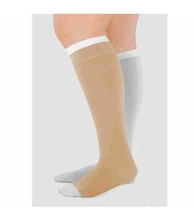 Sous-bas Juzo Liner Silver avec chaussettes de contention à pied ouvert